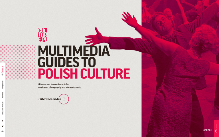 Screenshot of Multimedia Guides to Polish Culture