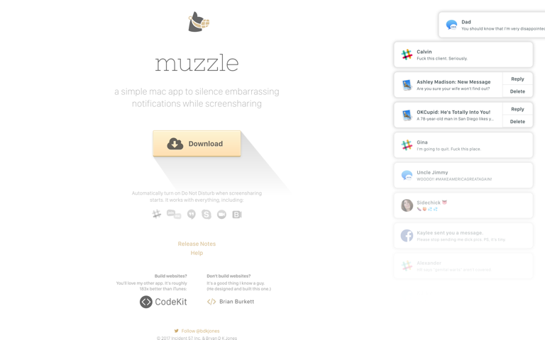 Screenshot of Muzzle