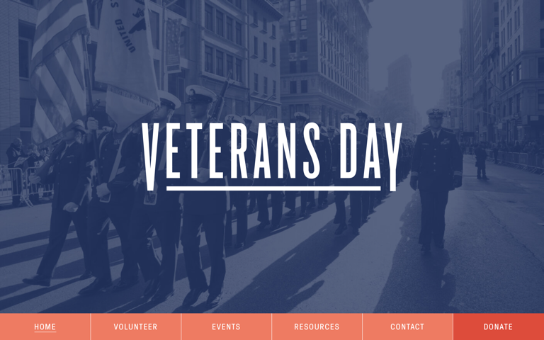 Screenshot of National Veterans Day