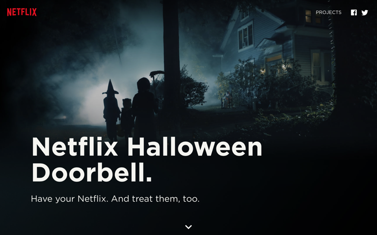 Screenshot of Netflix Halloween Doorbell