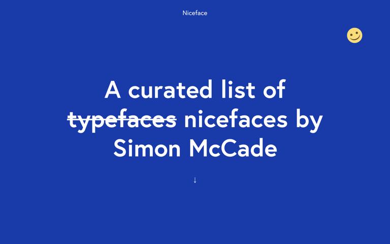 Screenshot of Niceface