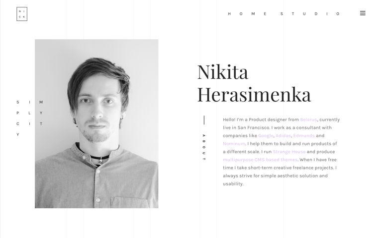 Screenshot of Nikita Herasimenka