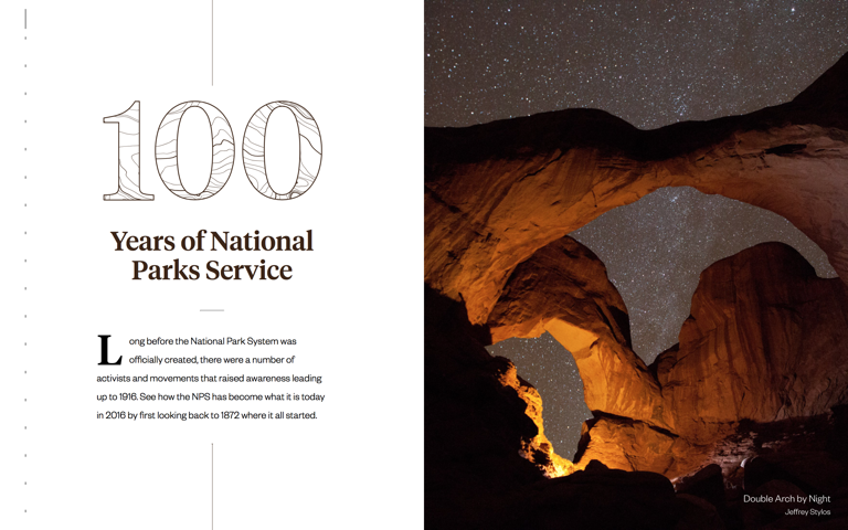 Screenshot of 100 Years of National Park Service