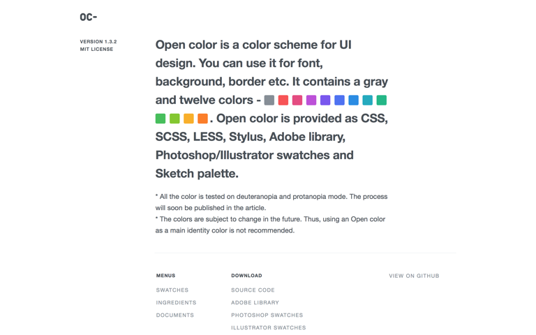 Screenshot of Open Color