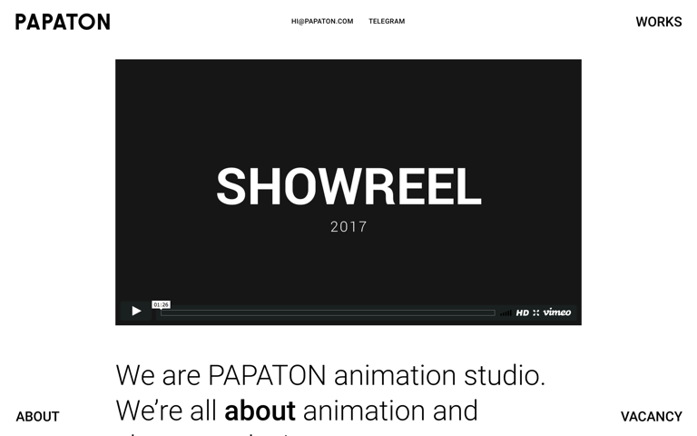 Screenshot of PAPATON Studio