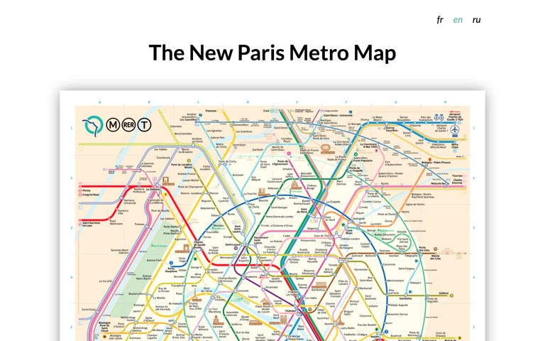 Screenshot of The New Paris Metro Map