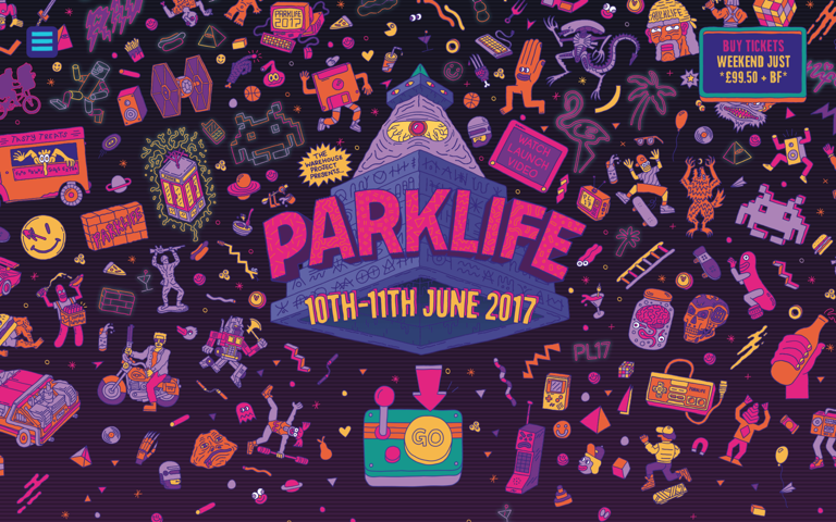 Screenshot of Parklife 2017