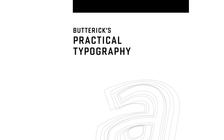 Screenshot of Butterick's Practical Typography