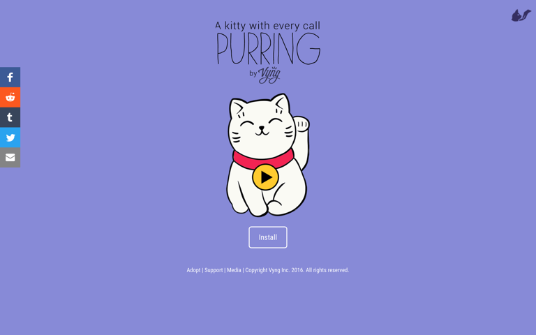 Screenshot of Purring