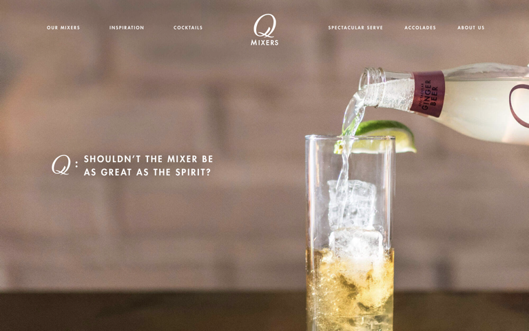 Screenshot of Q Drinks