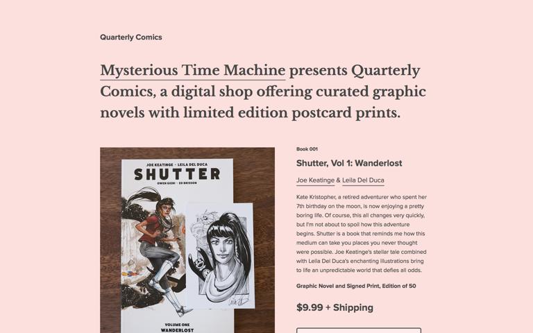 Screenshot of Quarterly Comics