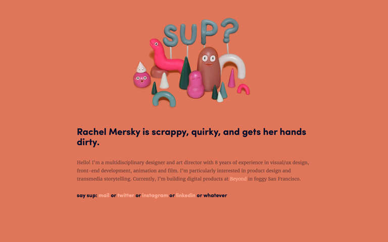 Screenshot of Rachel Mersky