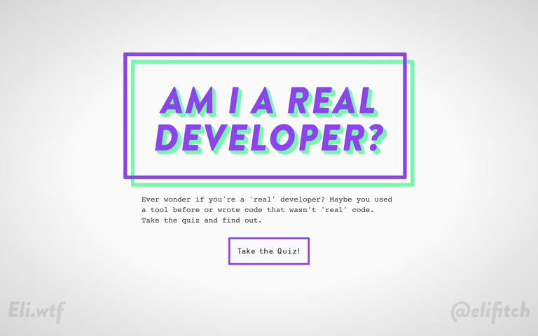Screenshot of Am I a Real Developer?