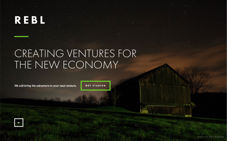 Screenshot of REBL Ventures