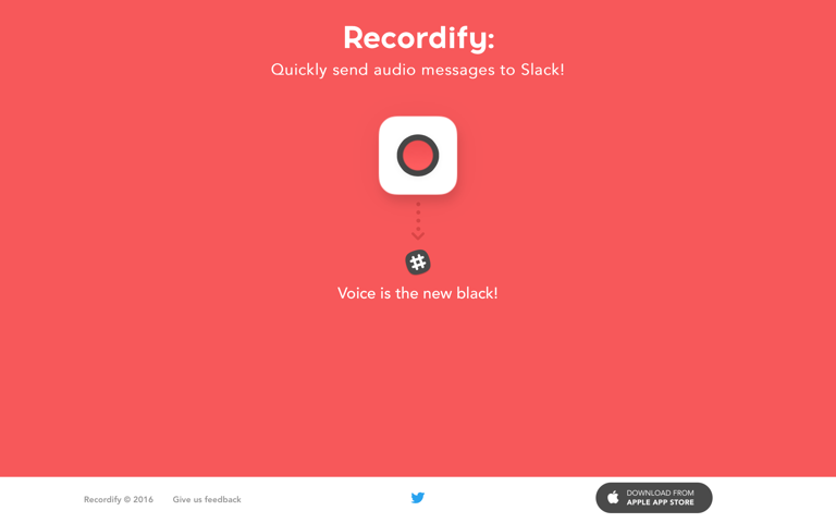 Screenshot of Recordify