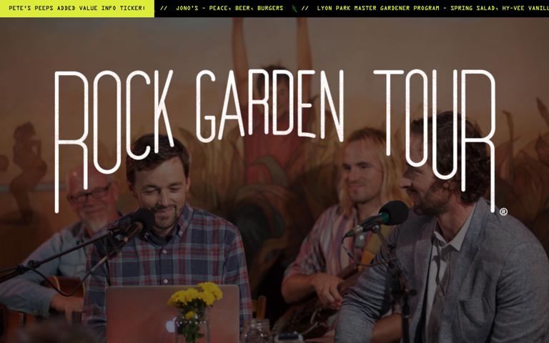 Screenshot of Rock Garden Tour