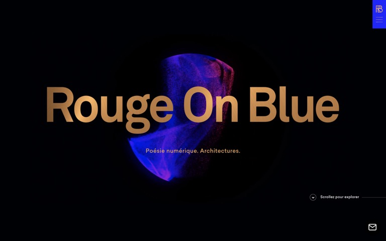 Screenshot of rouge-on-blue