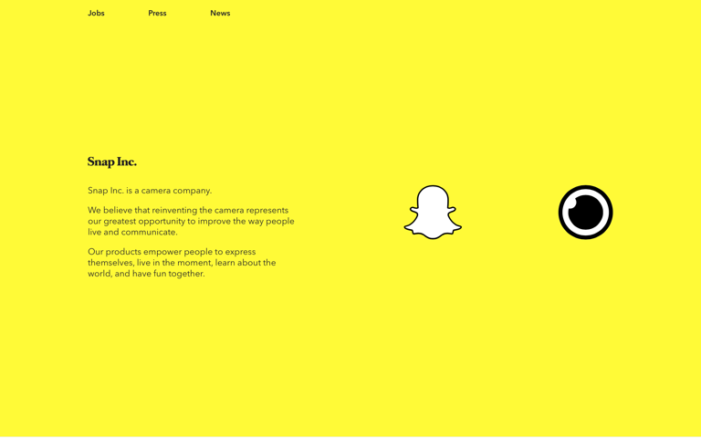 Screenshot of Snap Inc.