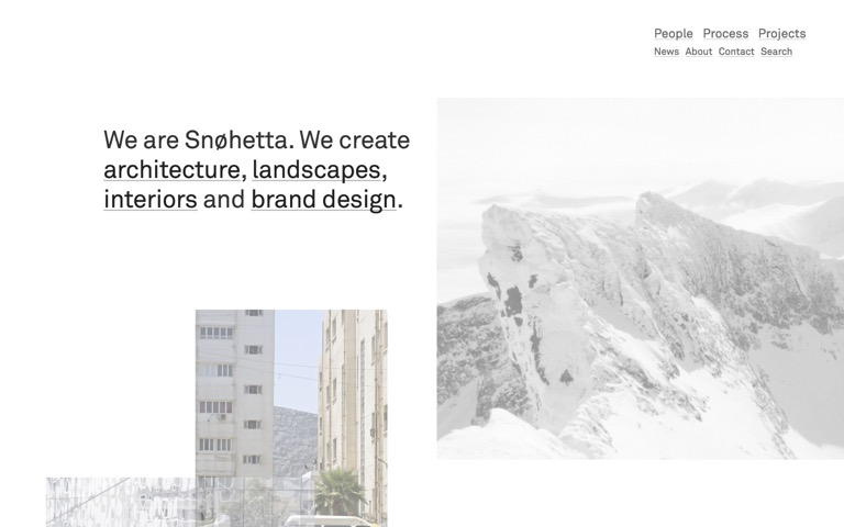 Screenshot of Snøhetta