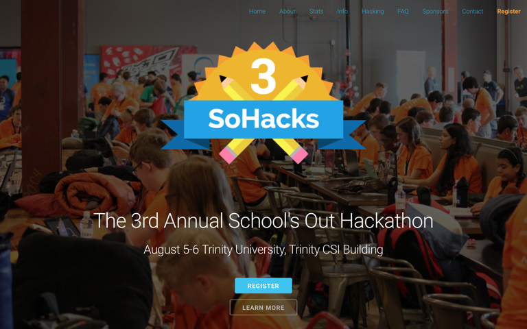 Screenshot of SoHacks