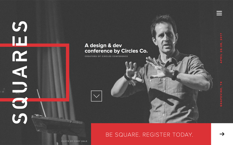 Screenshot of Squares Conference