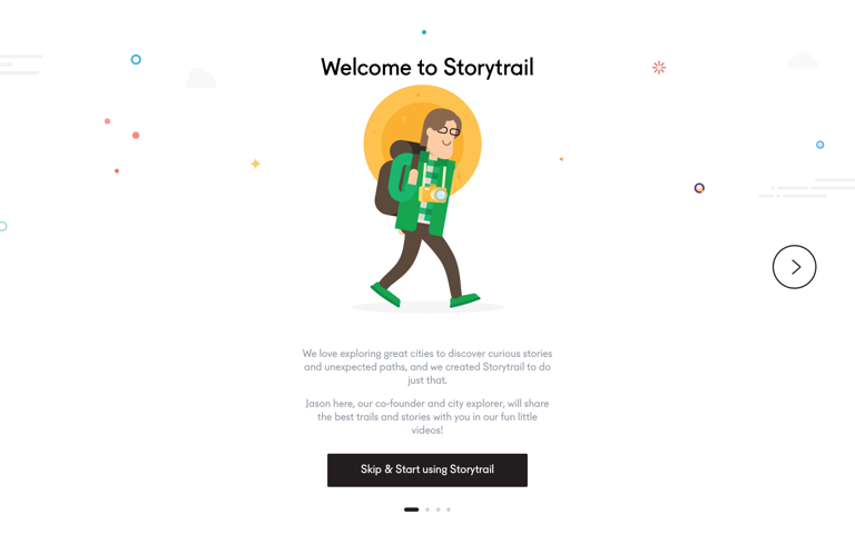 Screenshot of Storytrail