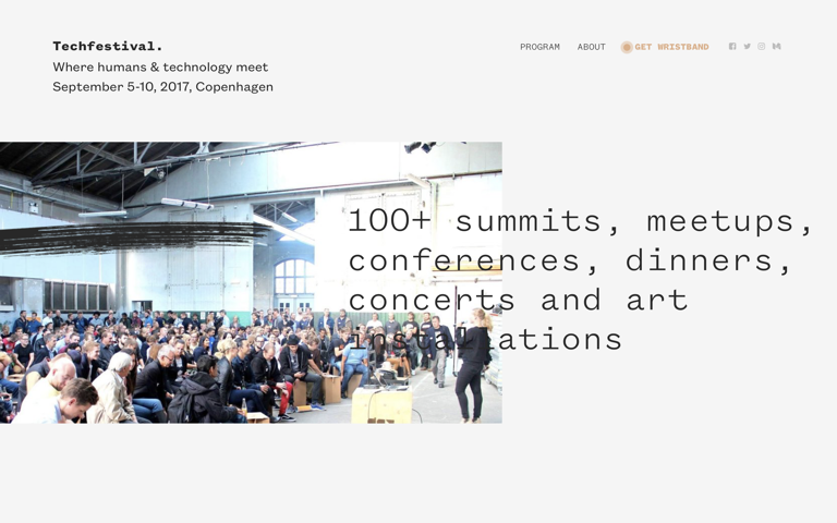 Screenshot of Techfestival