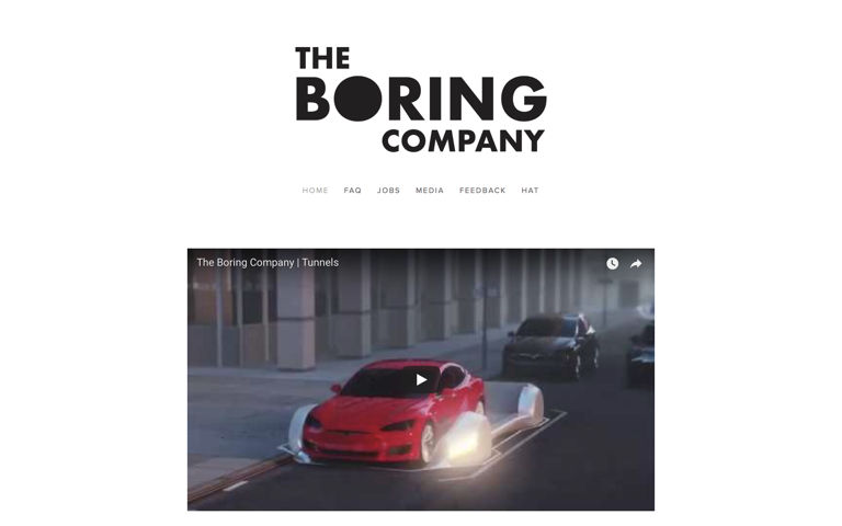 Screenshot of The Boring Company