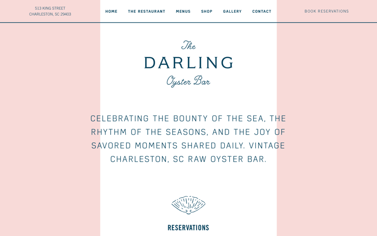 Screenshot of The Darling Oyster Bar