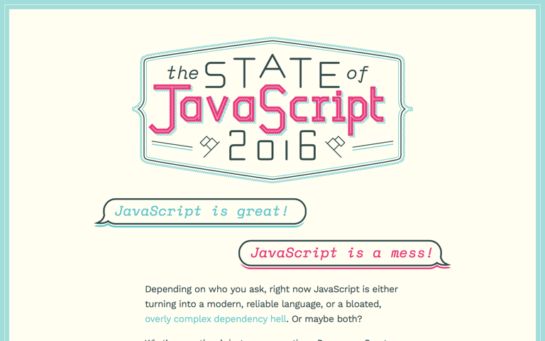 Screenshot of The State of JavaScript