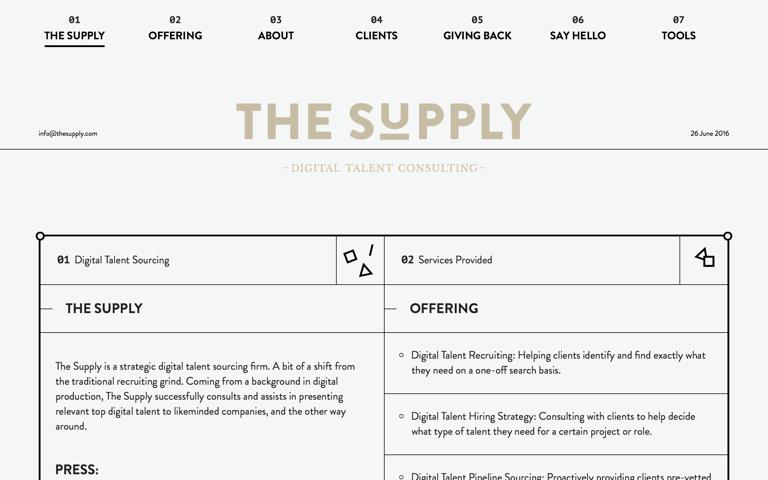 Screenshot of The Supply