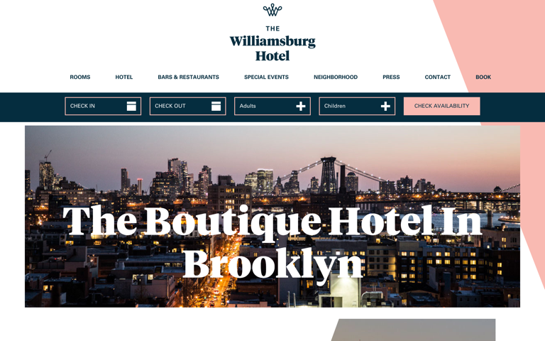 Screenshot of The Williamsburg Hotel