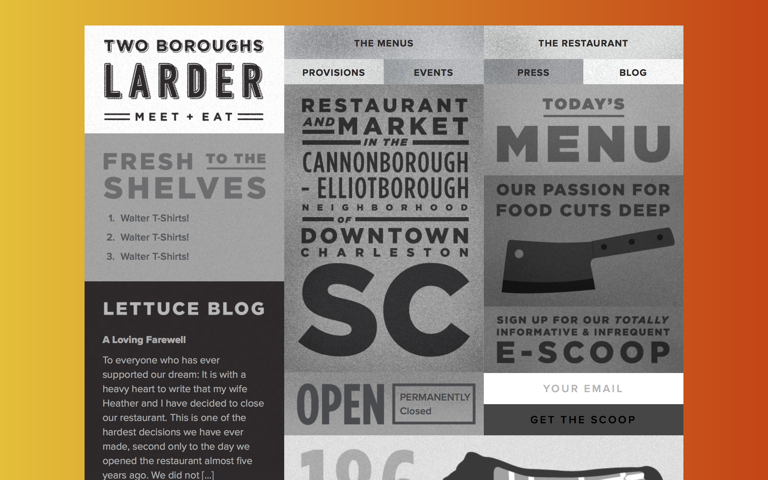 Screenshot of Two Boroughs Larder