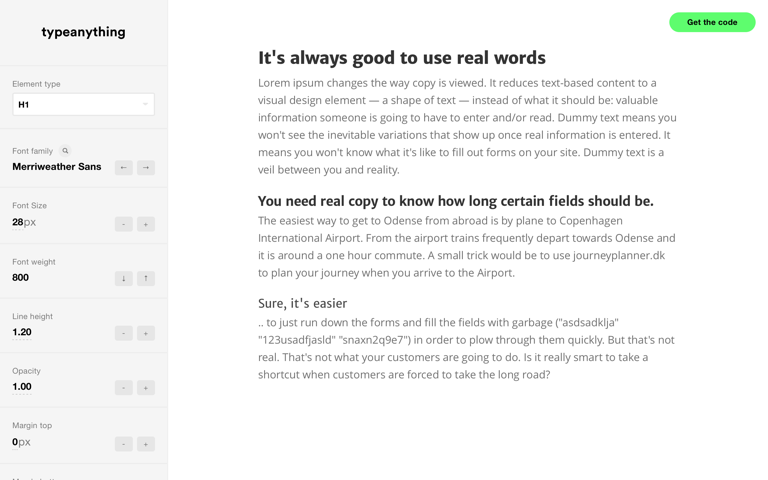 Screenshot of Type Anything