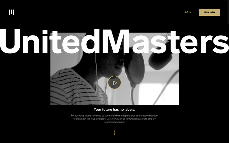 Screenshot of UnitedMasters