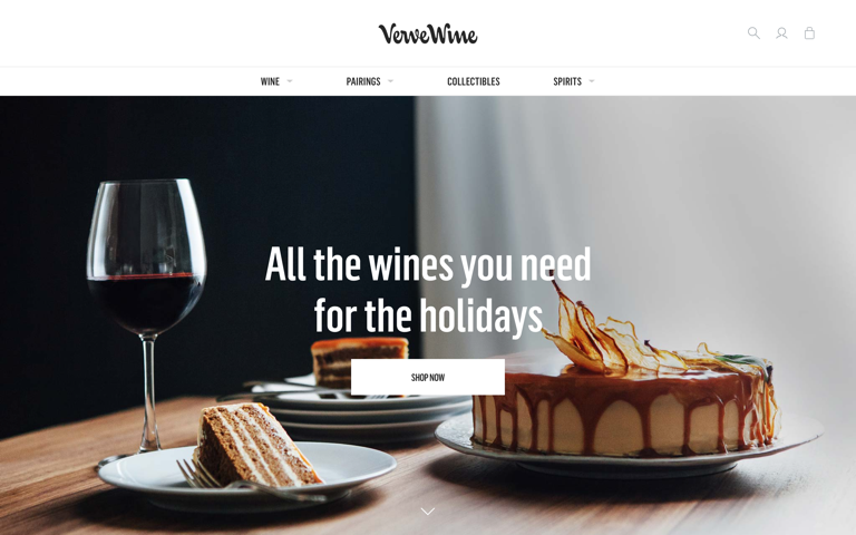 Screenshot of Verve Wine