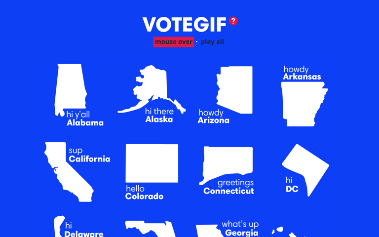 Screenshot of VoteGif