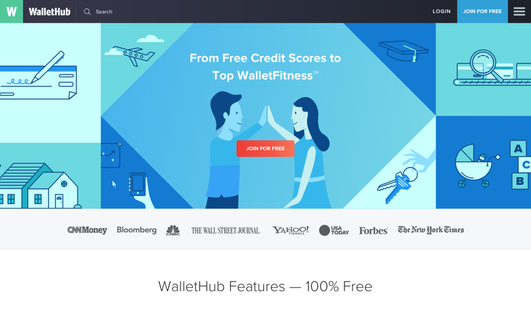 Screenshot of Wallethub