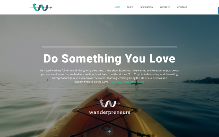 Screenshot of Wanderpreneurs