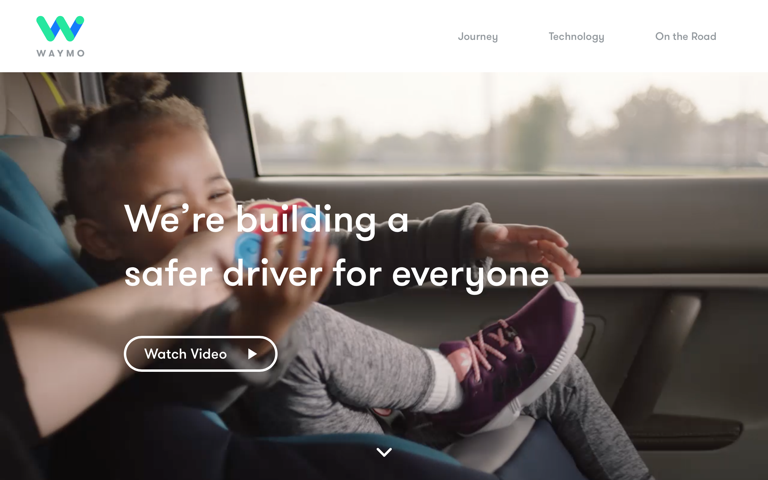 Screenshot of Waymo