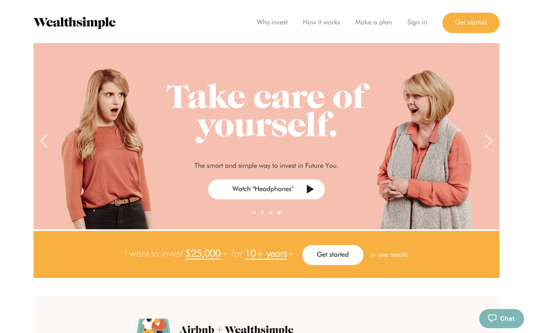 Screenshot of Wealthsimple