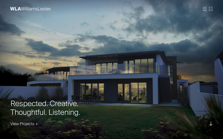 Screenshot of Williams Lester Architects