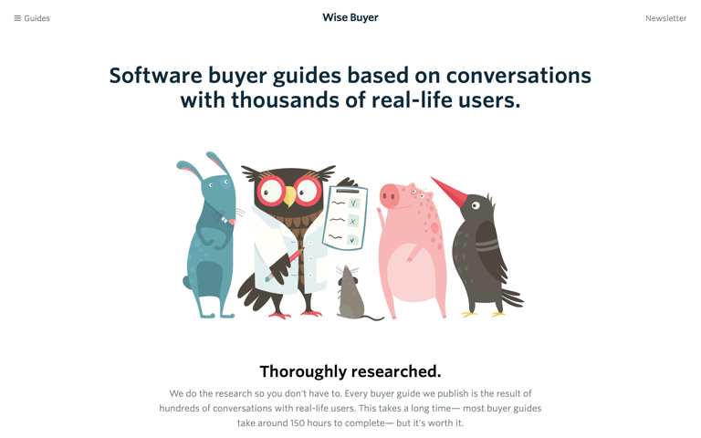 Screenshot of Wise Buyer