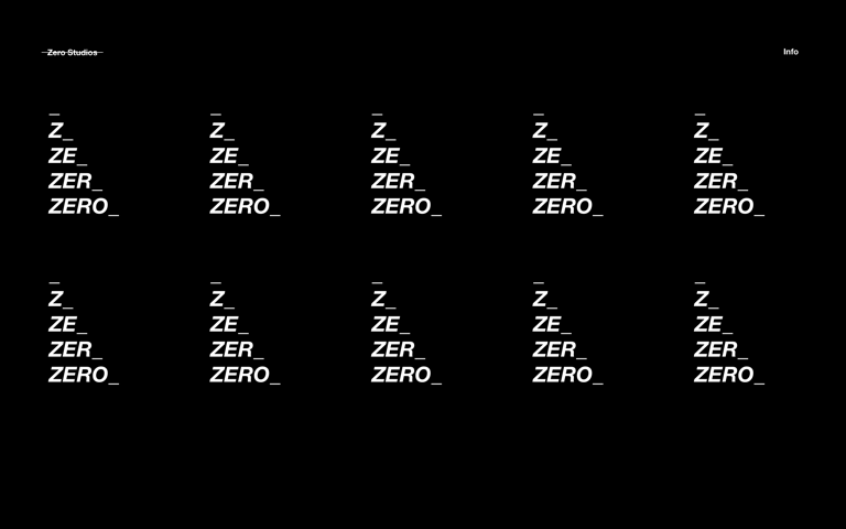 Screenshot of Zero Studios