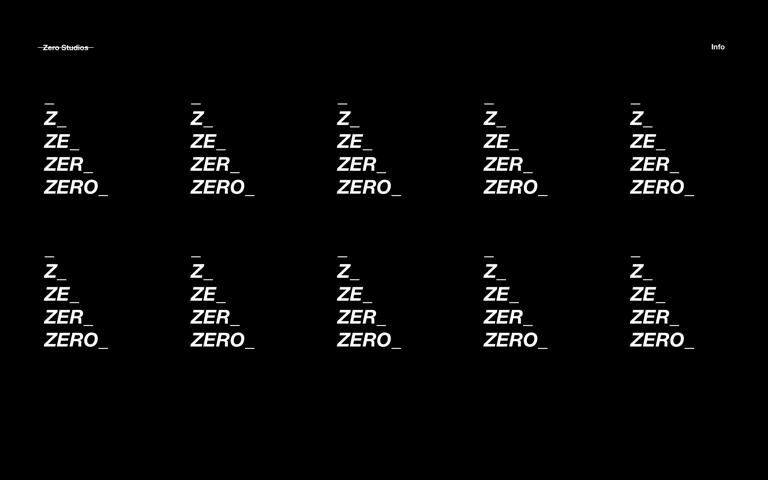 Screenshot of Zero Studios